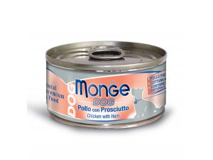 MONGE Dog Natural kuře,šunka  95g/24bal