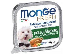 MONGE FRESH Dog kuře,zelenina 100g/32ks