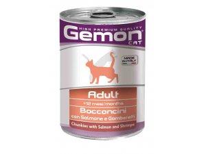 GEMON Cat HP kousky losos/krevety 415g/24bal