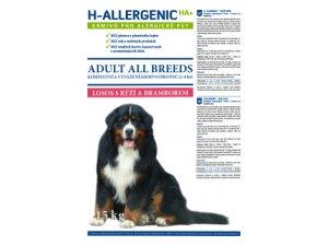 H ALLERGENIC Dog Adult Losos s rýží a bramborem 15kg