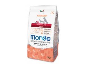 MONGE DOG Superpremium Mini Adult Losos, rýže 27/14  15 kg - chovatelské balení - mini losos.jpg