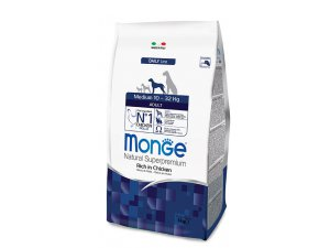 MONGE DOG Superpremium Medium Adult Kuře , rýže 26/13,5  15 kg - chovatelské balení - monge_new_cane_secco_medium_adult 3kg.jpg