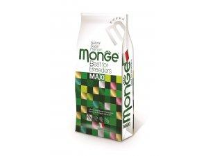 MONGE DOG Superpremium Maxi Adult Kuře, rýže 27/12,5 15kg - chovatelské balení