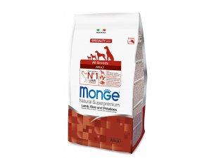 MONGE Dog Jehně, rýže, brambory 25/16  15kg - chovatelské balení - jehně rýže brambor.jpg