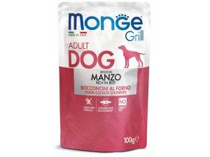 MONGE GRILL Dog Kapsička hovězí 100g/24bal