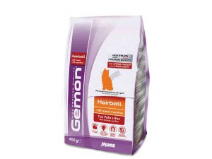 GEMON Cat Hairball  kuře/rýže 400g