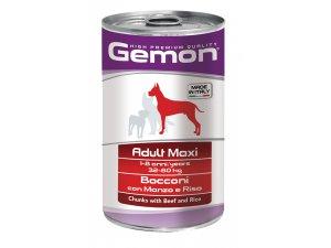 GEMON Dog HP Maxi kousky hovězí s rýží 1250g/12bal