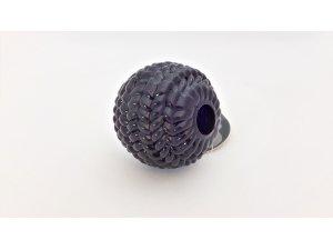 Míček nepískací - fialový TPR