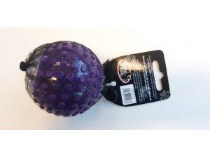 Míček s otvorem pískací - fialový TPR