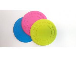 Frisbee modrý - TPR 18x18x18cm