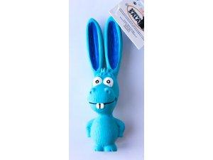 Osel pískací - modrý - LATEX 17cm
