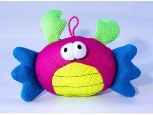 Krab - růžový pískací 25cm