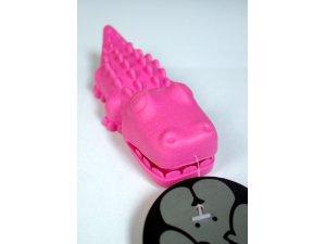 Krokodýl - růžový  TPR 13.2x4.3x3.6cm (100/1)