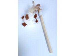 kočky - Škádlítko myška na tyčce