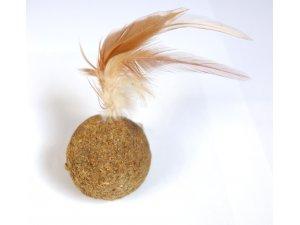 kočky  - Šantová kulička s pírky 4,5cm
