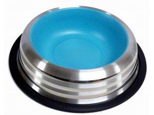 Miska nerez LINE PASTELOVÁ modrá 0,575l/15,5cm