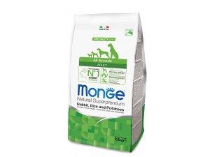 MONGE Dog Králík, rýže,brambory  26/16  2,5kg