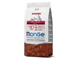 MONGE DOG Superpremium Mini Adult Jehně,rýže,brambory 25/16  2,5kg