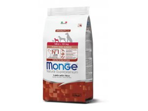 MONGE Dog Mini  Puppy & Junior Lamb & Rice 2,5kg
