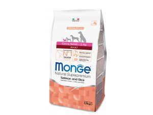 MONGE Dog EXTRA MINI  Adult, losos, rýže, 2,5kg