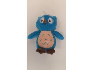 Sova modrá - 22 cm - pískací