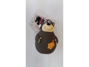 Vánoční medvídek s kulichem , pískací - LATEX