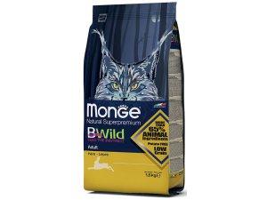 MONGE BWILD Cat - Zajíc, Adult 1,5kg