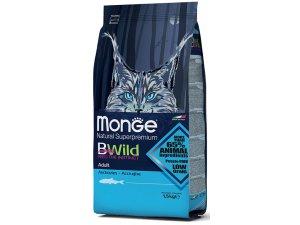 MONGE BWILD Cat - Ančovičky Adult 1,5kg