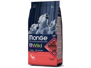 MONGE BWILD Dog - Srnčí, Puppy & junior 15kg chvatelské balení - BWILD DEER PUPPY.jpg