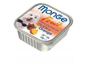 MONGE FRUIT Dog Kachna s pomerančem  100g/32ks