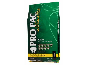 PRO PAC ULTIMATES Dog Mature Chicken & Brown Rice 21/12 12kg EXP. 29.5.2020