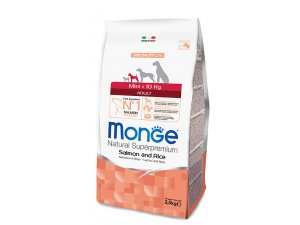 MONGE Dog Mini Adult Losos, rýže 27/14  7,5kg