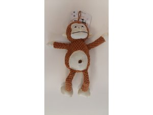 Opičák plyš  20 cm pískací