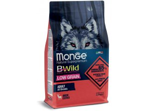 MONGE BWILD Dog Low Grain - Srnčí, Adult 2,5kg