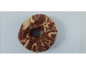 Kroužek z bůvolí kůže s kachním masem 11cm -  1 ks