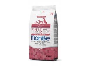MONGE DOG Monoprotein Hovězí, rýže 27/16  chovatelské balení 15kg - hovězí monoprotein.jpg
