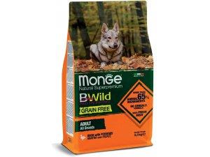 MONGE BWILD Dog - Grain Free - Kachna s bramborem, 30/20 2,5kg