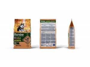 MONGE BWILD Dog - Grain Free - Losos s hráškem, 32/16 2,5kg - BWILD GRAIN FREE SALMONE.jpg