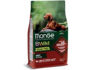 MONGE BWILD Dog - Grain Free - Jehně s bramborem a hráškem, 28/16,5  2,5kg