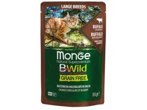 MONGE BWILD CAT Grain Free kapsička  LB ADULT  Buvol se zeleninou 85g/28bal.