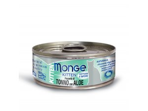 MONGE JELLY Cat Kitten tuňák,aloe 80g/24b