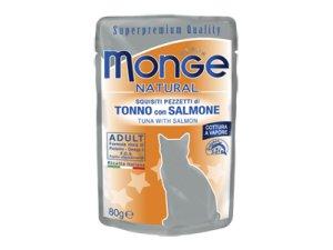 MONGE Cat kapsička tuňák,losos 80g/24b